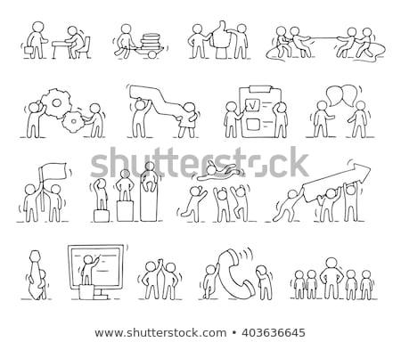 csapatmunka · szellem · szett · hangyák · együtt · dolgozni · üzlet - stock fotó © pakete