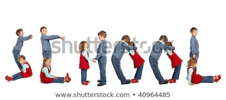 Stock fotó: Gyerekek · készít · szó · óvoda · kollázs · iskola