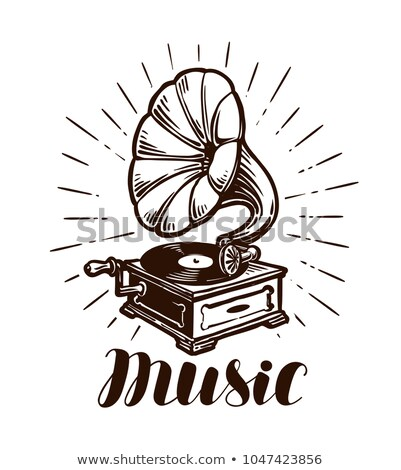 Сток-фото: музыку · Vintage · иллюстрация · словарь