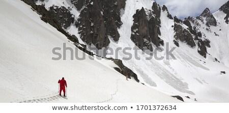 panoramique · vue · pente · ciel · caucase - photo stock © bsani