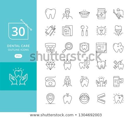 устный здоровья икона дизайна изолированный иллюстрация Сток-фото © WaD