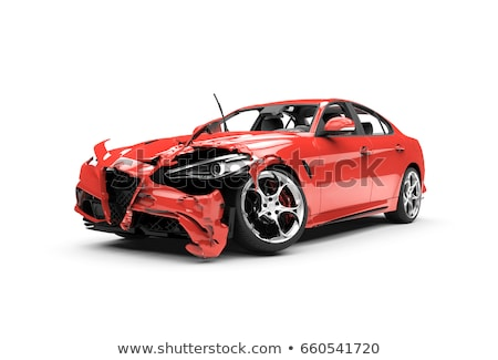 red car crash in accident, background Stock photo © FrameAngel