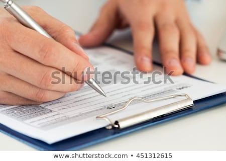 diák · tömés · alkalmazás · űrlap · fiatal · felnőtt · főiskolai · hallgató - stock fotó © alexandrenunes