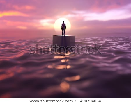 lonely boat in the sea stock photo © escander81