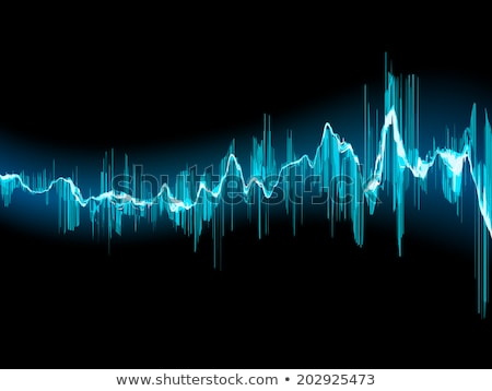 Bright sound wave on a dark blue. EPS 10 Stock photo © beholdereye