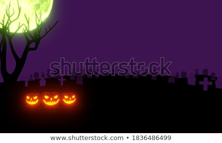 3D zombie creature at moonlight Stock photo © kjpargeter