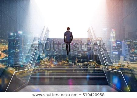 affaires · échapper · labyrinthe · labyrinthe · homme · résumé - photo stock © lightsource
