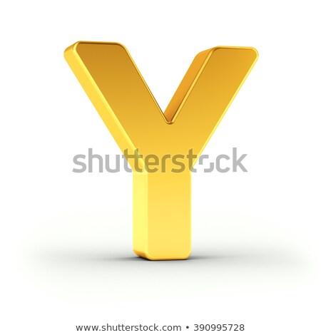 Carta polido dourado objeto branco Foto stock © creisinger