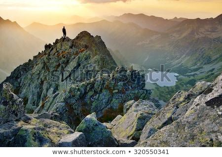Inspirador montanas paisaje vista verano Foto stock © blasbike