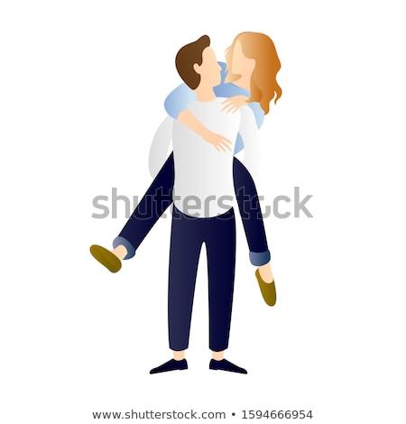 paire · amoureux · coeurs · Valentin · Romance · symbole - photo stock © lenm