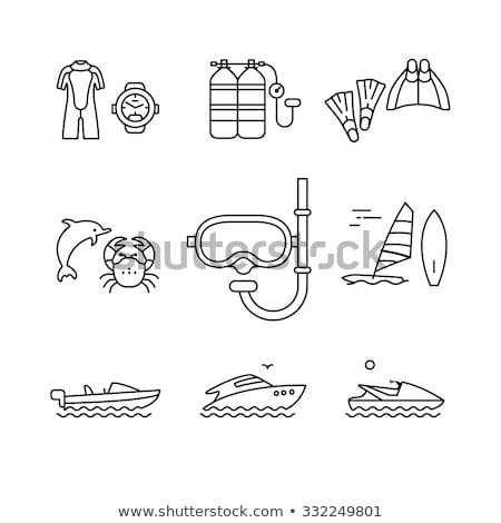 Crabe Scuba masque illustration eau mer Photo stock © adrenalina