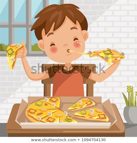 very cute positive smiling little boy isolated stock photo © zurijeta
