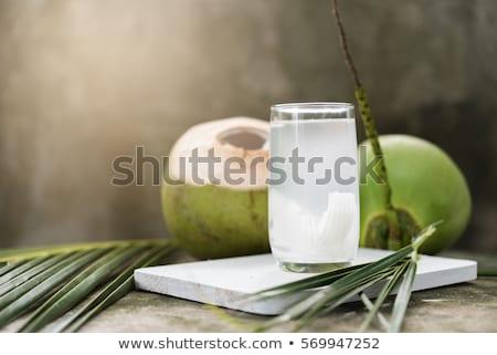 drinken · kokosnoot · water · man · drinken · witte - stockfoto © vichie81