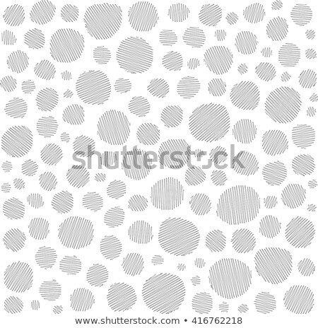 irregular hatched circles collection in white over black Stock photo © Melvin07
