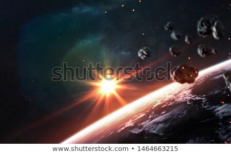 Foto stock: Terra · ilustração · céu · espaço · satélite · gráfico