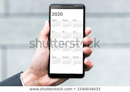 新しい スマートフォン カレンダー ビジネス 紙 作業 ストックフォト © jarin13