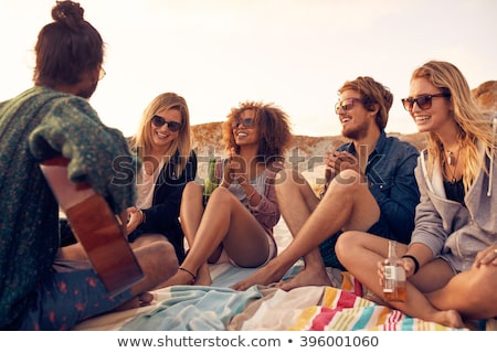 People hanging out on the beach Stock photo © bluering