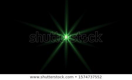 Zielone migotać promienie efekt przezroczystość streszczenie Zdjęcia stock © pakete