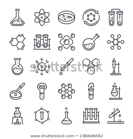 Stock fotó: Tudomány · tárgy · ikonok · illusztráció · fehér · háttér