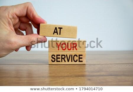 zakenman · groot · hand · business · ondersteuning · hulp - stockfoto © alphaspirit