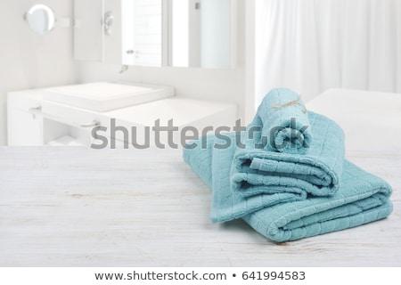 Luz azul banho toalha textura luz fundo Foto stock © stevanovicigor