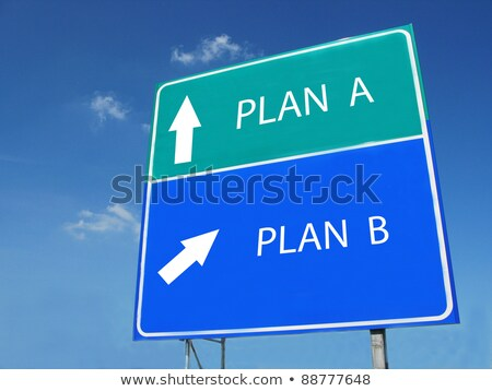 Plan B text on green board Stock photo © fuzzbones0