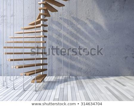 lépcső · nap · szürke · kövek · óceán · madarak - stock fotó © zurijeta