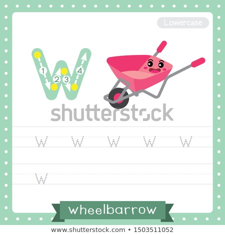 Flashcard letter W is for wheel Stock photo © bluering