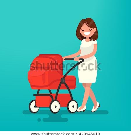 nublado · céu · bebê · abstrato · criança - foto stock © rastudio