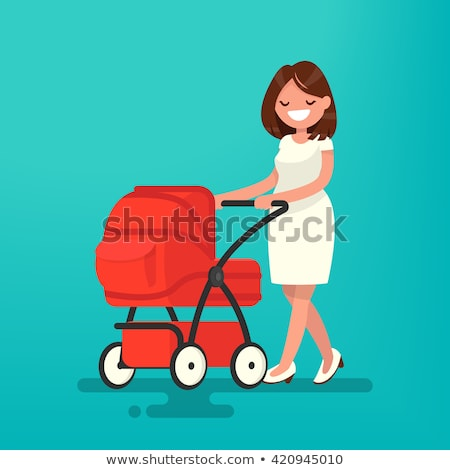 colourful baby carriage vector illustration stock photo © rastudio