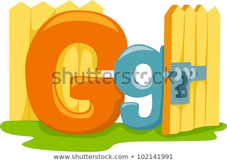A letter G for gate Stock photo © bluering