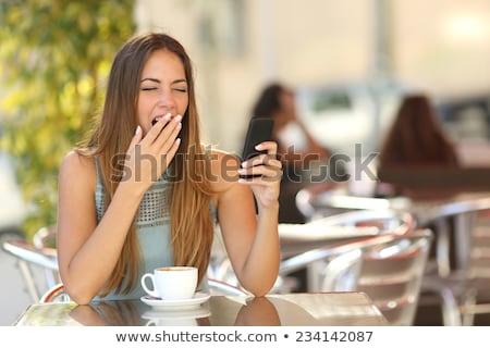 исчерпанный · скучно · женщину · зевать - Сток-фото © stevanovicigor