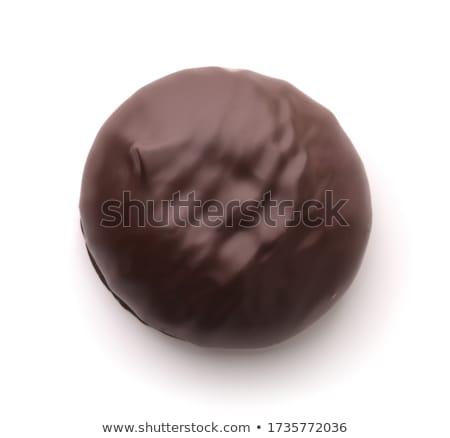 Csokoládé sütik lekvár fölött több elmosódott Stock fotó © faustalavagna