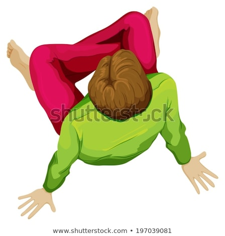A topview of a boy sitting down Stock photo © bluering