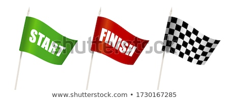 Stockfoto: Racing Flags In Different Styles