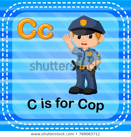 Flashcard letter C is for cop Stock photo © bluering