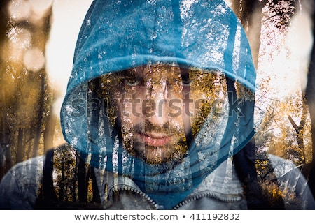 ferito · gladiatore · spada · stormy · cielo · metal - foto d'archivio © konradbak