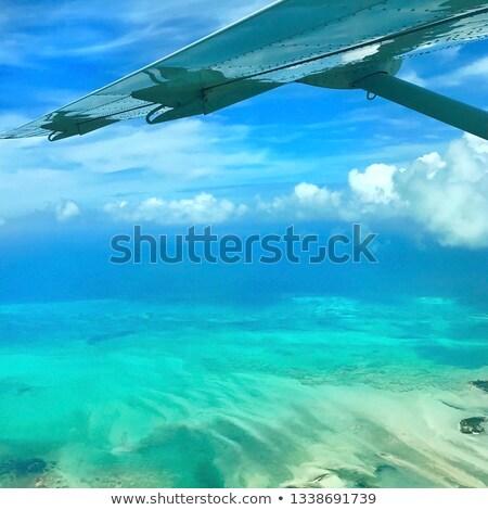 Repülés Bahamák légifelvétel óceán körül víz Stock fotó © FER737NG