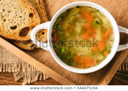 chicken broth with vegetable Stock photo © M-studio