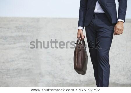 üzletember barna ebéd munka barna papír táska Stock fotó © lisafx