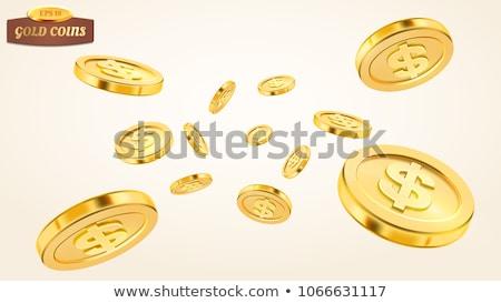 zuhan · arany · érmék · hazárdjáték · absztrakt · halom - stock fotó © day908