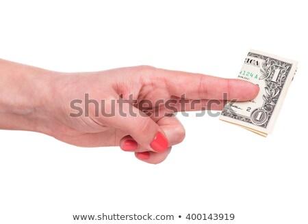 Vrouwelijke handen een dollar tip cafe Stockfoto © stevanovicigor