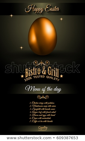 Happy 2017 Easter modern and elegant background with a Golden egg Stock photo © DavidArts