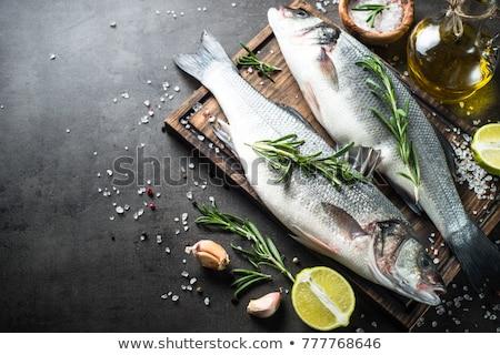 Сток-фото: Raw Seabass Fish