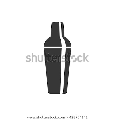 Bár shaker ikon narancs fekete ital Stock fotó © angelp