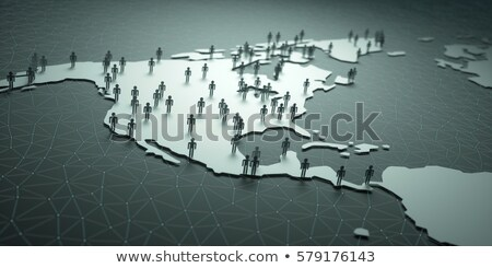North And Central America Population Stock photo © idesign