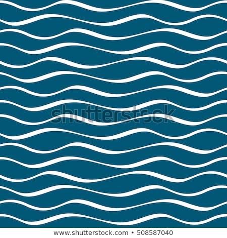 egyszerű · hullám · minta · végtelenített · kék · hullámos · vonalak - stock fotó © fresh_5265954