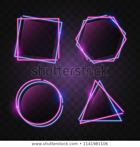 抽象的な 六角形 暗い 青 バナー セット ストックフォト © Tefi