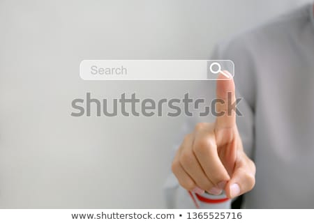 hand pointing a business search bar Stock photo © alexmillos