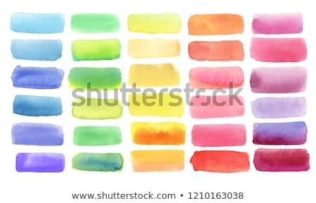 resumen · elegante · tinta · pintura · azul · aislado - foto stock © sarts